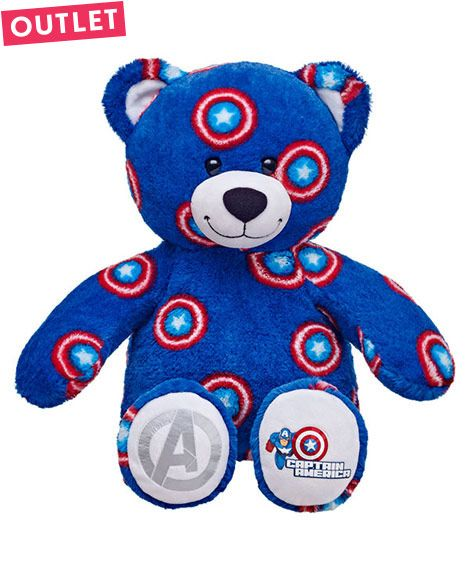 Outlet 16 in. Captain America Bear | Build-A-Bear