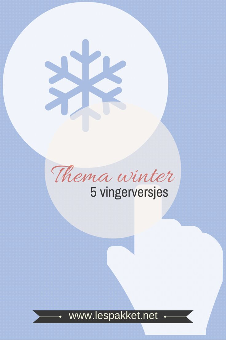 Thema winter � 5 vingerversjes