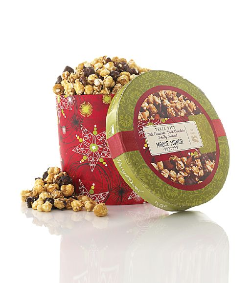 Harry & David popcorn drum — we see the makings of a totally sweet holiday party!