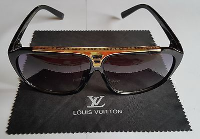 Louis Vuitton Evidence Sunglasses -Black and Gold