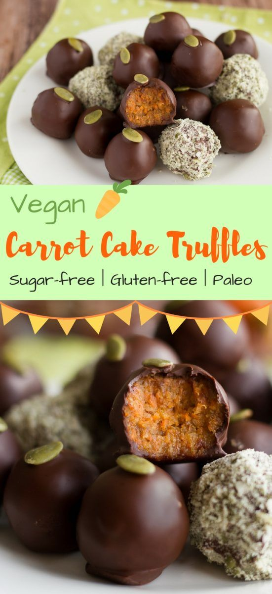 Vegan Carrot Cake Truffles | A Sugar-free, Paleo Easter Recipe | These Vegan Carrot Cake Truffles are not only incredibly delicious and easy to make but also really healthy! A sugar-free, gluten-free & Paleo Easter recipe for the whole family! #easterrecipes #easterbasket #veganrecipes #paleo #glutenfreerecipes #sugarfree #cinnamonandcoriander #truffles #carrotcake