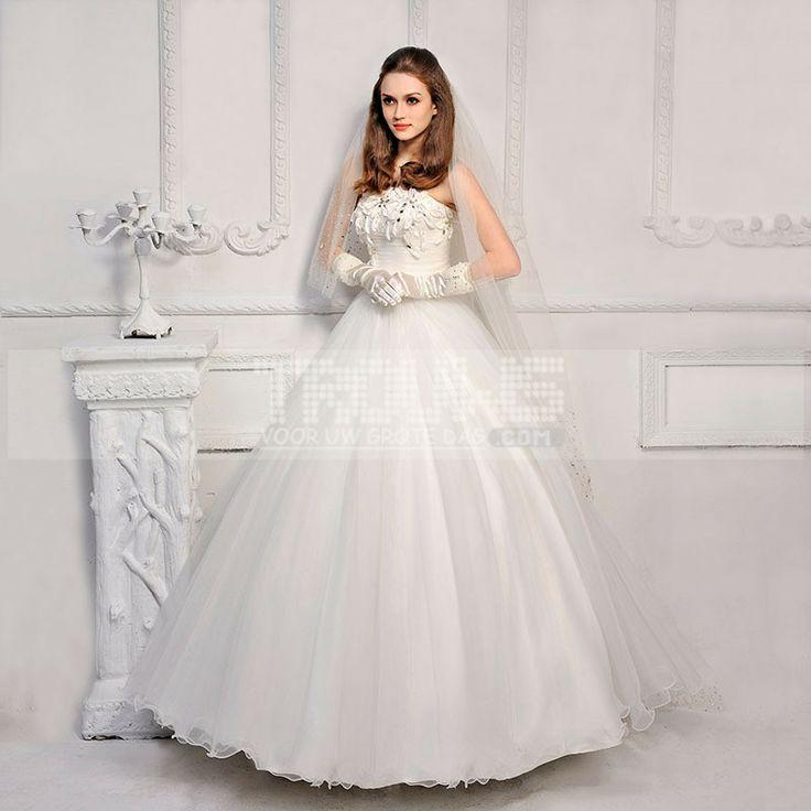 http://www.trouws.com/trouwjurken-c1 nieuwe Koreaanse stijl van zoete prinses Bra paragraaf handgemaakte diamanten bruid trouwjurk - €139.65 , Trouws.com