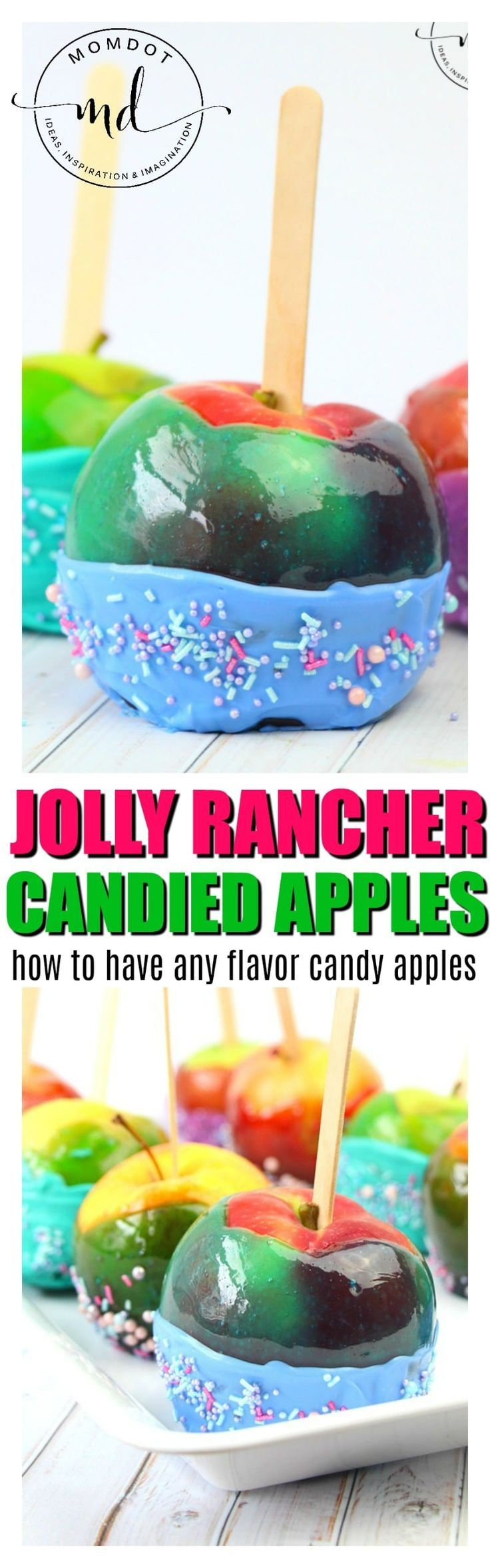 Jolly Rancher Candy Apples : How to make candied apples with jolly ranchers