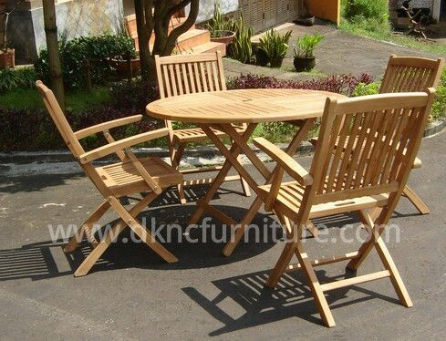 Garden Furniture Round Folding Table Bali Folding Arm Chair more info E-mail: kranji123@indo.net.id / info@dkncfurniture.com or visit website www.dkncfurniture.com #teak #outdoor #bali #arm #chair #spogagafa #dkncfurniture #outdoorfurnituremarket #retail #wholesale #order #job #worker