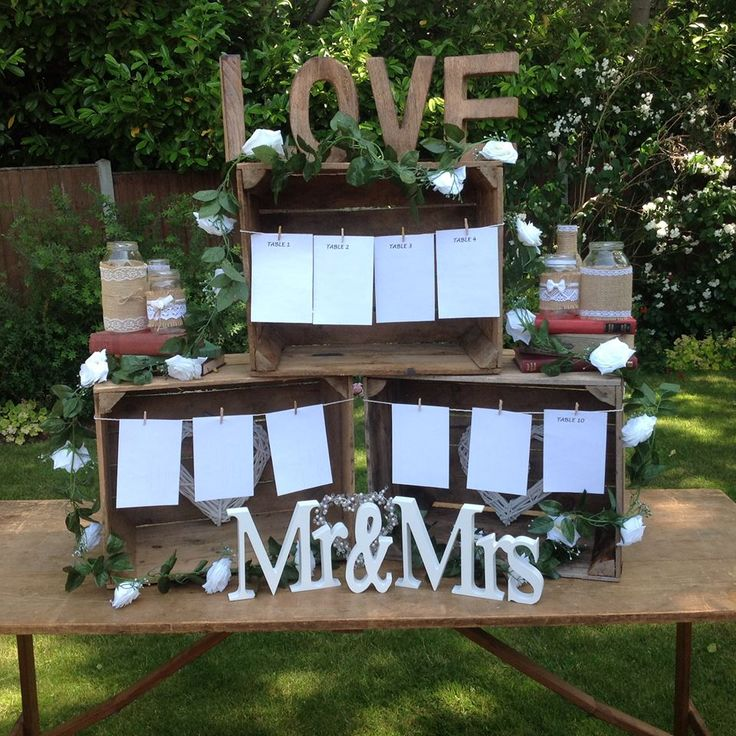 Apple crate table plan available for hire