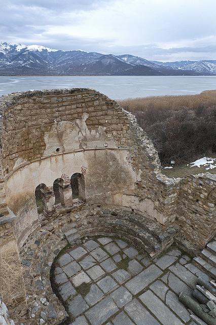 Agios Achilleios Basilica ruins, Lake Prespa, Macedonia