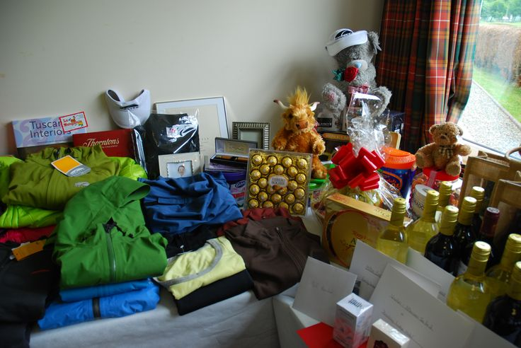 A selection of the raffle prizes generously donated to the charity Texas Scramble.