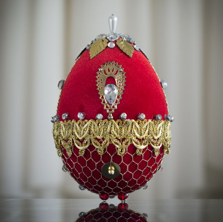 Faberge Egg - red 4