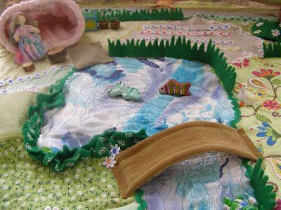 Fairy play mat  Игровой коврик - сад фей