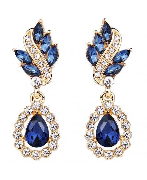 e335efed0 Women's Austrian Crystal Art Deco Tear Drop Earrings - CM11RUJVEC9 ...