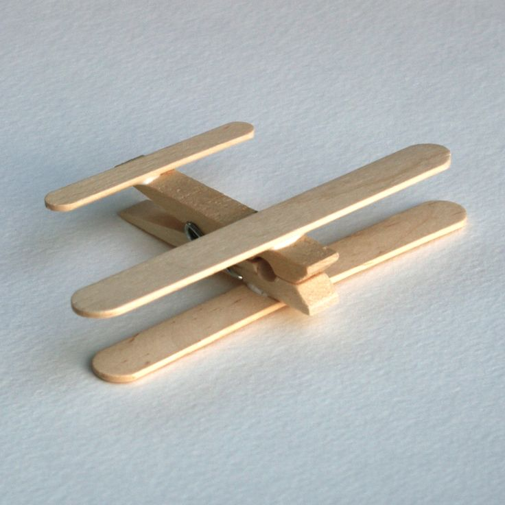 Airplanes Made Out of Popsicle Stick Crafts