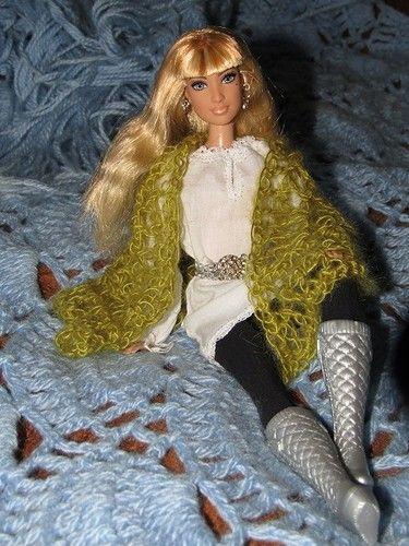 Романтическая шаль / Одежда и обувь для кукол - своими руками и не только / Бэйбики. Куклы фото. Одежда для кукол