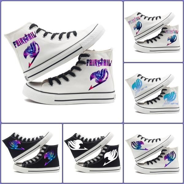 Fairy Tail Logo Shoes    #fairy #tail #shoes #logo #canvas #merchandise    https://www.animeprinthouse.com/collections/all/products/fairy-tail-logo-shoes