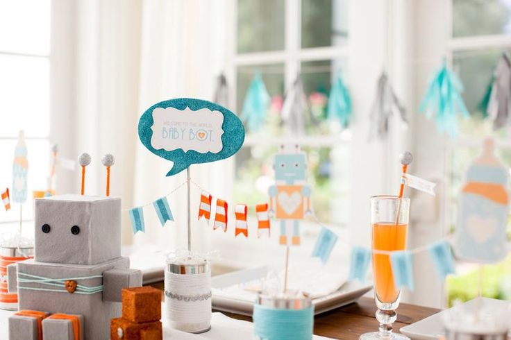 baby shower on pinterest robot baby showers baby shower clothesline