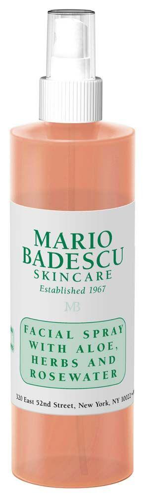 Mario Badescu Facial Spray with Aloe, Herbs & Rosewate Erfrischendes Gesichts-Spray und ein echter Bestseller für den Feuchtigkeitskick zwischendurch.