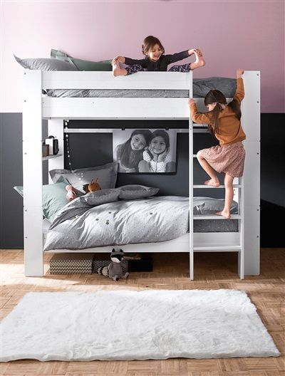 lits superpos s s parables modulo blanc vertbaudet enfant f bunkbed pinterest. Black Bedroom Furniture Sets. Home Design Ideas