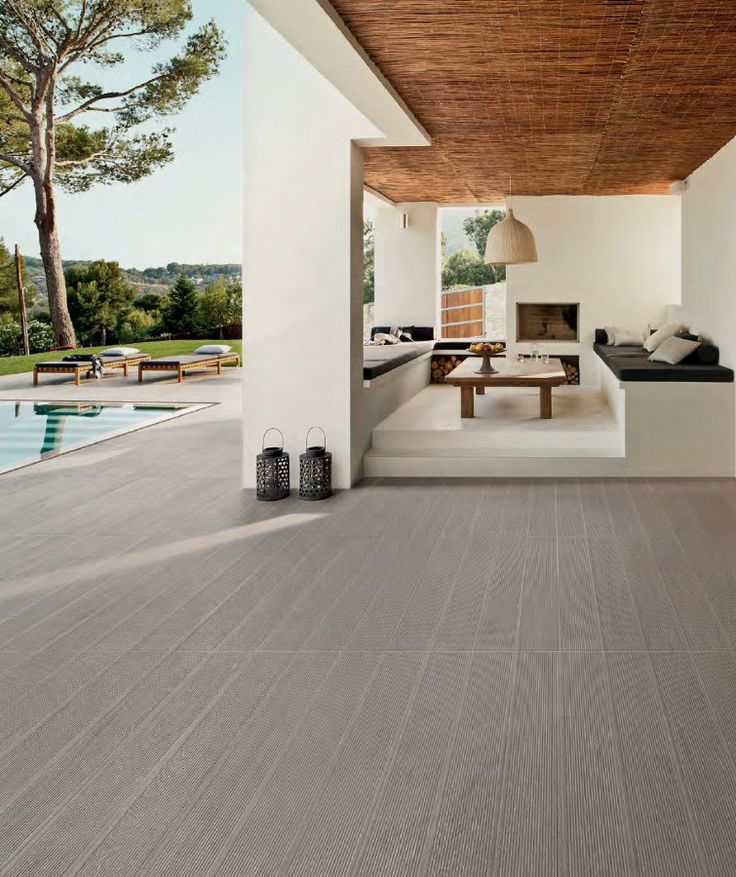 Porcelain stoneware floor tiles with #wood effect BIO PLANK MICROBAN® by @Lea Ceramiche #outdoor