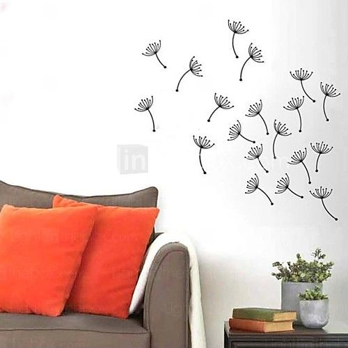 e-Home® metall vägg konst väggdekor, maskros flygande väggdekor uppsättning av 9 - USD $ 59.99