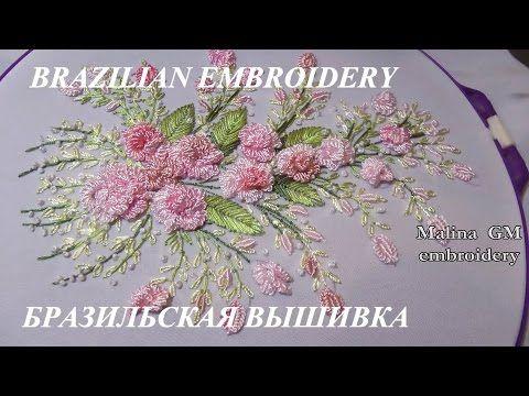 ЦВЕТОЧНАЯ ВЫШИВКА ( РОЗЫ )  \   Hand Embroidery: Flower stitch (ROSES) - YouTube