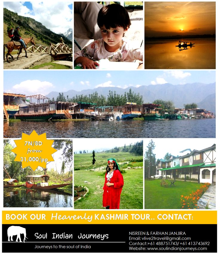 Experience living in a houseboat on Dal Lake, enjoy interacting with the local Kashmiri's, go horse riding in the valleys of Pehelgam, explore the hills of Gulmarg, visit the Switzerland of India with us. Book our Kashmir package