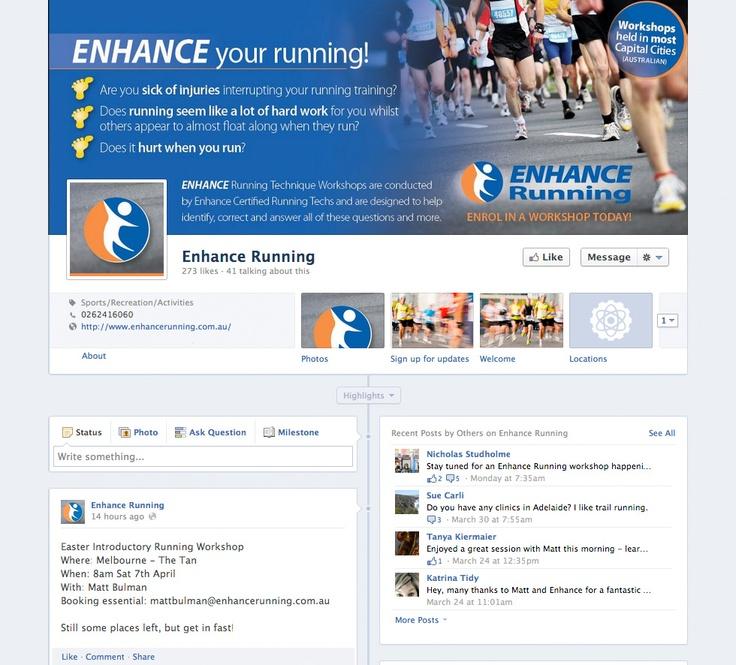 Enhance Running Facebook - Social Media