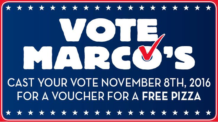 Get a Voucher for a FREE Marco's Pizza Tomorrow (11/8) - http://www.swaggrabber.com/?p=311551