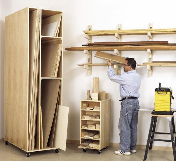 Lumber Rack Scrap Sheet Good Storage Woodworking Plan
