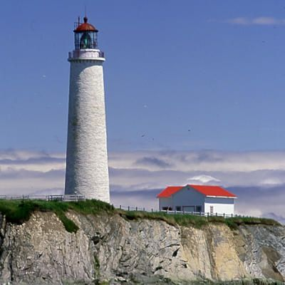 Cap-des-Rosiers Lighthouse, Canada's tallest (112 feet), has stood near the tip of Quebec's Gaspé Peninsula since 1858.