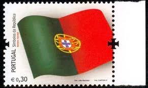 Portugal flag stamp