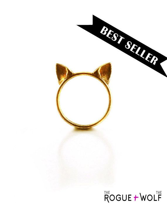 Hey, I found this really awesome Etsy listing at https://www.etsy.com/listing/109933882/cat-ears-ring-in-gold-a-gold-cat-ears