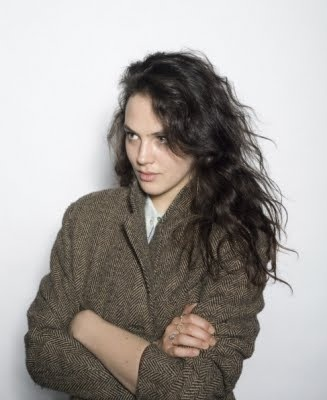 Jessica Brown Findlay (Mabel Gibson)  Possibly wearing the coat of a brother/Nicholas...?