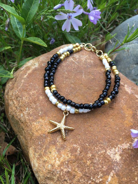 Starfish Bracelet Nautical Bracelet Beach by ClayNmetalConnection