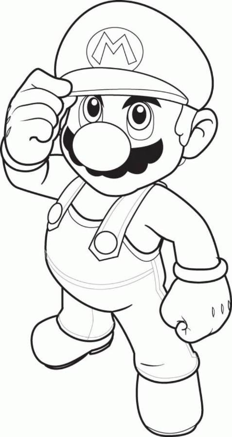 Download and Print mario coloring pages to print