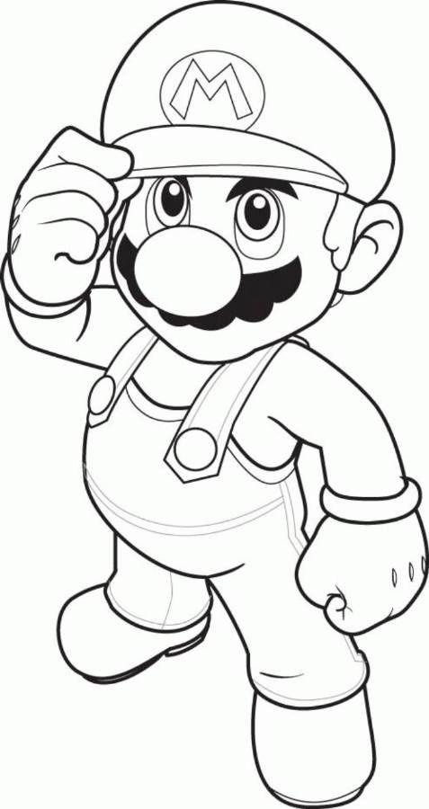 Dibujo de Mario Bros