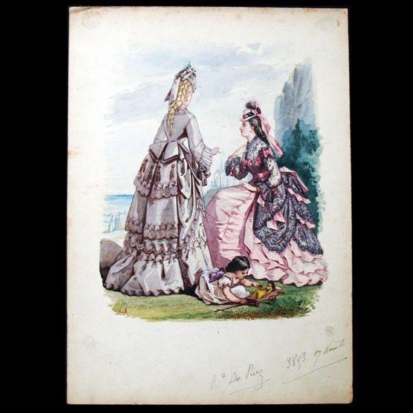 Dessin de Rigolet pour le Journal des Demoiselles et le Petit Courrier des Dames réunis (1872) - Autres illustrateurs - Illustrateurs - Illustration