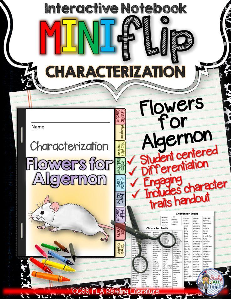 Flowers for Algernon: Interactive Notebook Characterization Mini Flip ($)