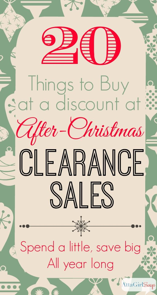 20 Things to Buy at Day After Christmas Sales. Pinned more than 1,400 times!