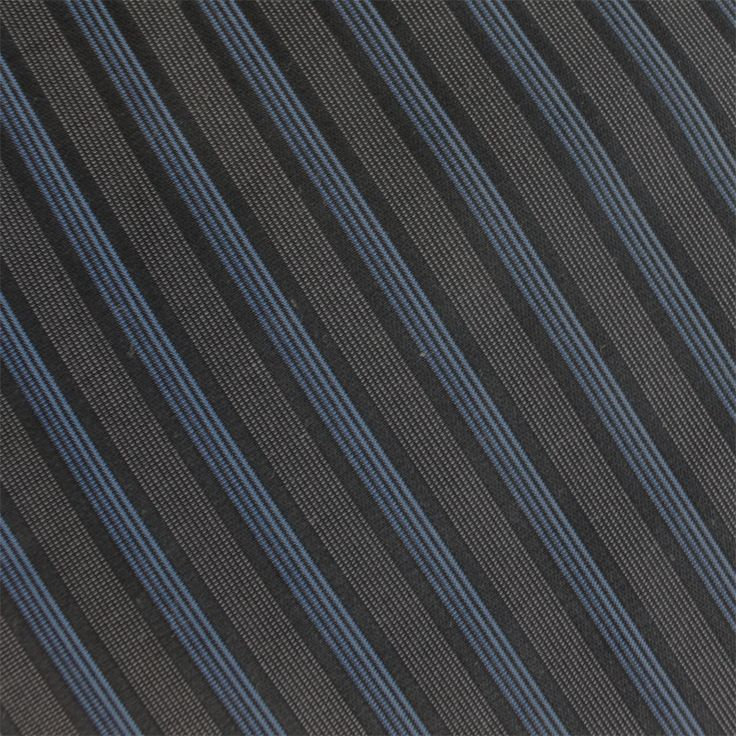 Contare Black and Blue Satin Stripe Weave
