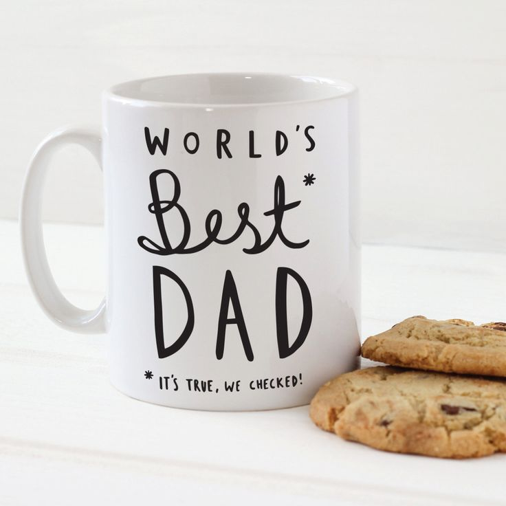 World's Best Dad Mug  Stylish Ceramic Mug for Dad  by OldEnglishCo, £10.95