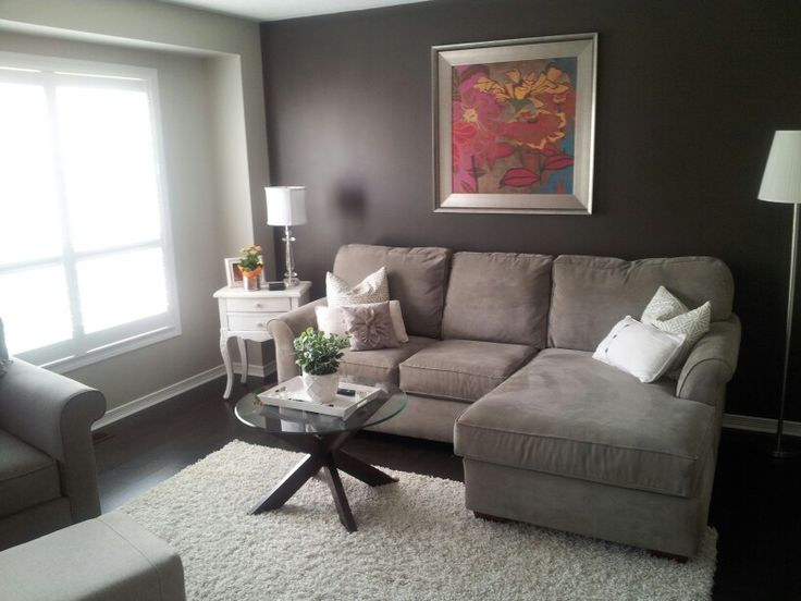 Living room with accent wall revere pewter and willow by - Benjamin moore revere pewter living room ...