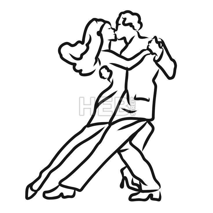 Tango Argentino Dancer Sketch. Hand-drawn vector Drawing. Use for dance studio marketing logo or invitation... ... #vector #doodle #sign #kids #kindergarten #sign #graphic #banner #design #hebstreit