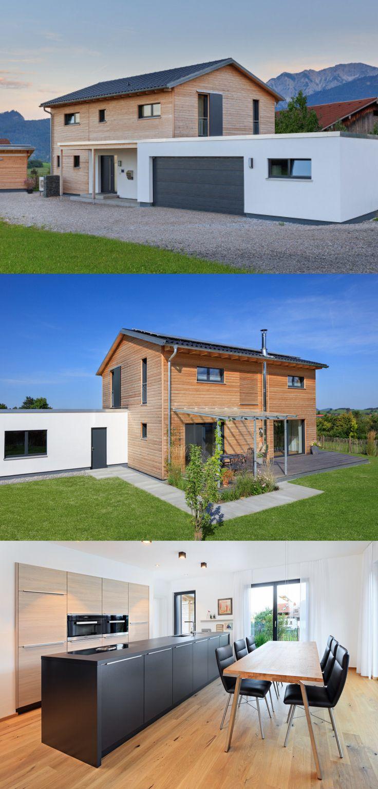 Moderne Holzhaus-Architektur Haus Schneider von Ba…