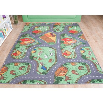 Caracella Farm Grey Children's Area Rug