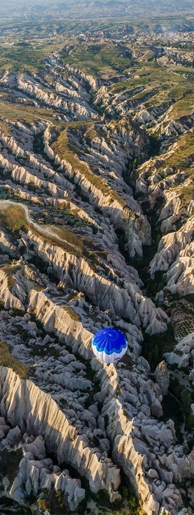 Balloon over Meskendir Valley, Cappadocia, Turkey