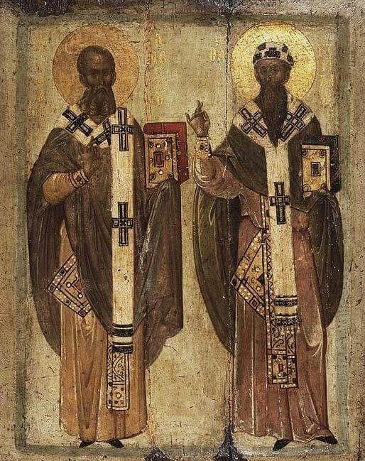 Οι Άγιοι Αθανάσιος και Κύριλλος, Πατριάρχες Αλεξανδρείας.