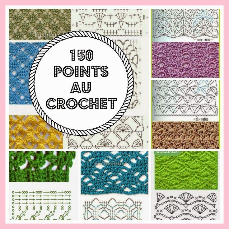 CROCHET : 150 points au crochet - diagrammes