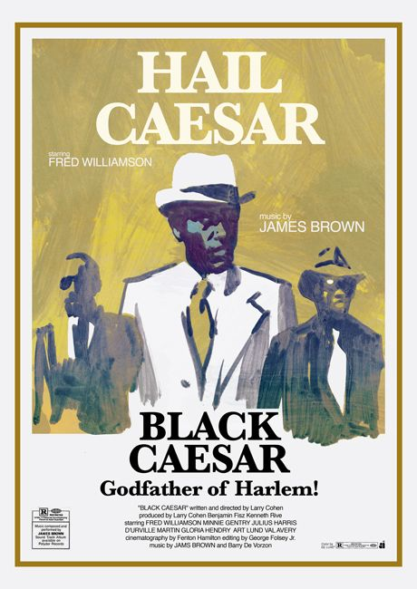 """Poster for """"Black Caesar"""" - 1973 by Larry Cohen."""