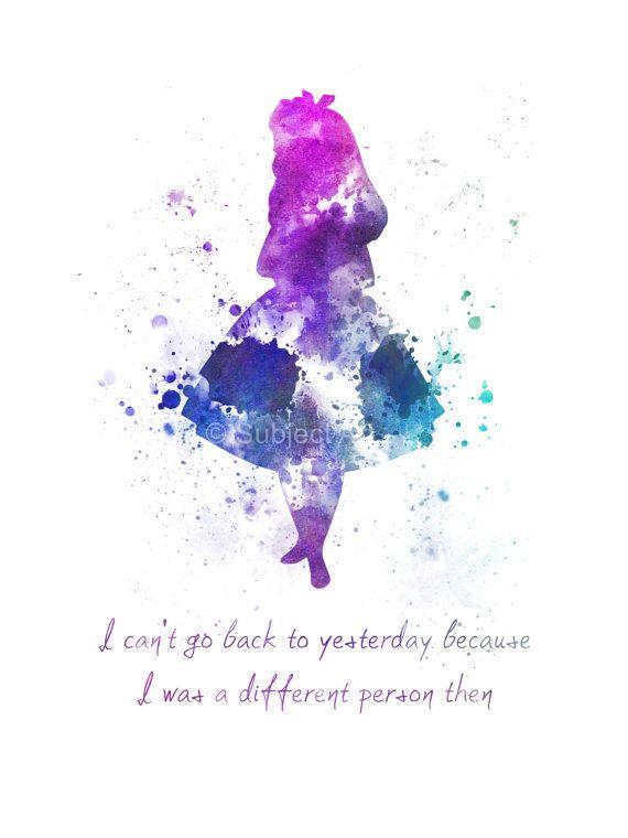 Alice in Wonderland zitieren KUNSTDRUCK Abbildung von SubjectArt