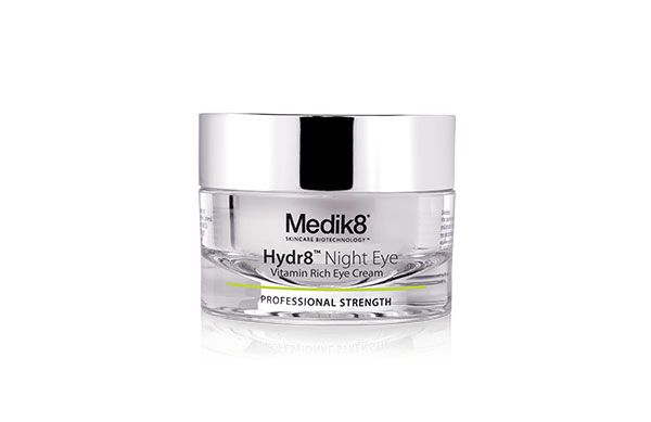 Formulated with Vitamin A, Hyaluronic Acid and Niacinamide, the new Medik8 Hydr8 Night Eye takes care of under-eye darkness and fine lines while you sleep.