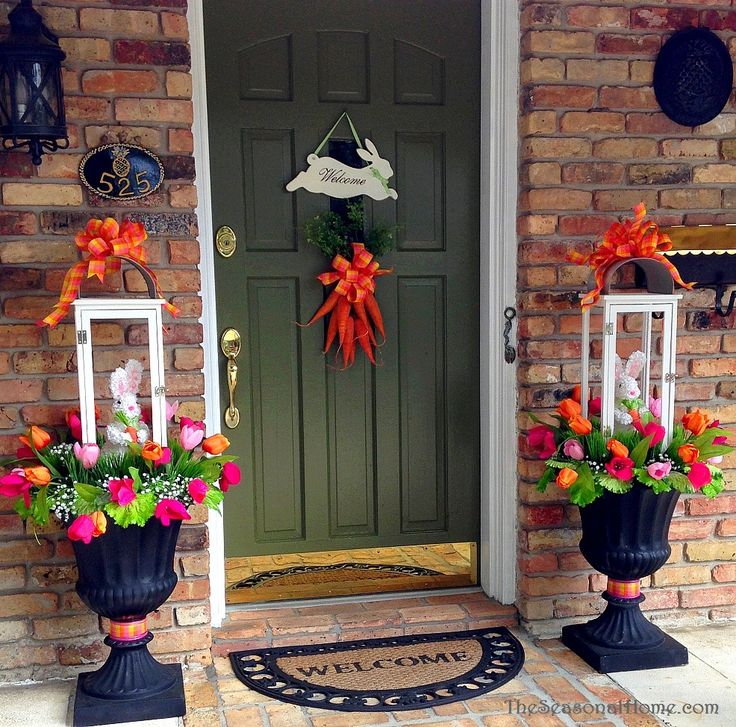 Outdoor Spring Decor: 283 Best Images About Easter Door / Porch / Outdoor Ideas
